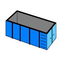 40 m3 container bouw en sloop afval