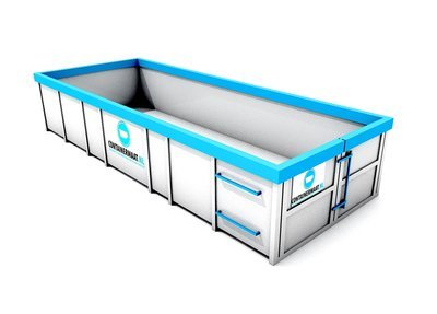 15 m3 container tapijt afval
