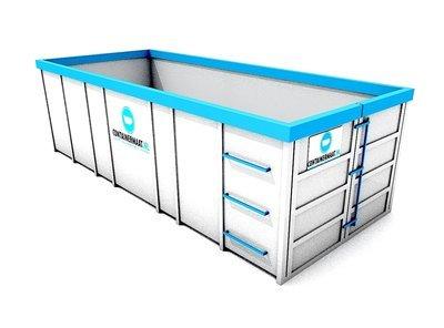 20 m3 container papier en karton afval
