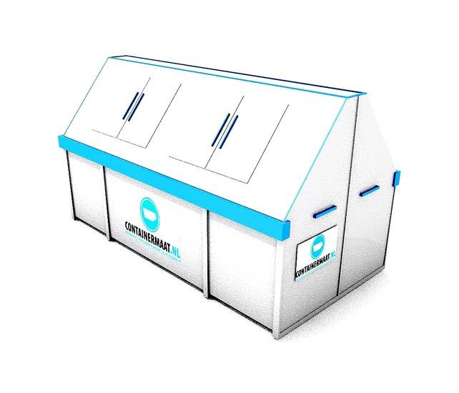 10 m3 container (gesloten) vezelplaat