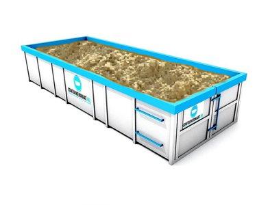 19 m3 straatzand in container