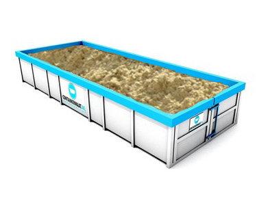 11 m3 straatzand in container