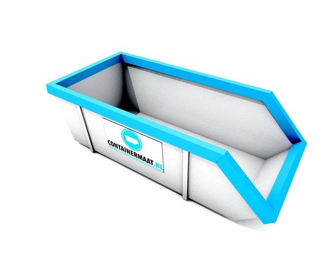 6 m3 container dak afval